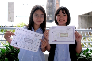 Year 7 Reading Race:  Ida Tsui (7W) and Toto Yuen (7W)