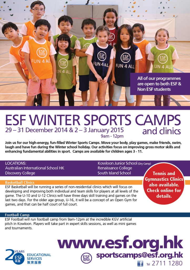 WINTER SPORTS CAMP FLYER